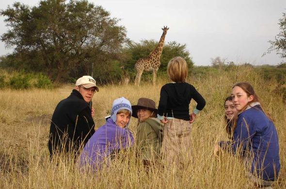 Children on safari at Mala Mala.