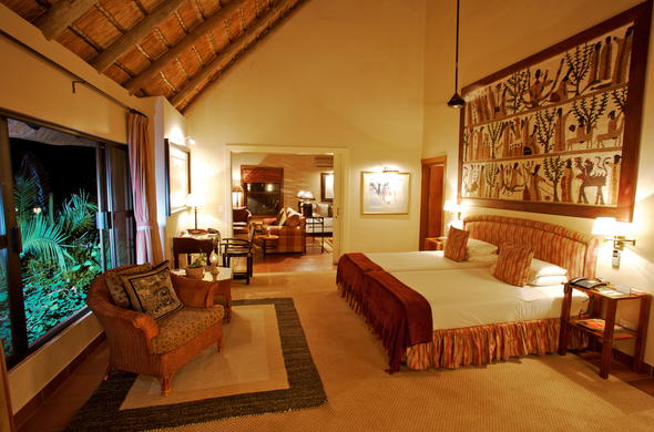 Interior of the Deluxe Suite at Sable Camp.